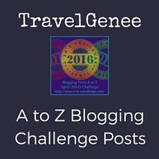 TravelGenee A to Z Blogging Challenge Posts