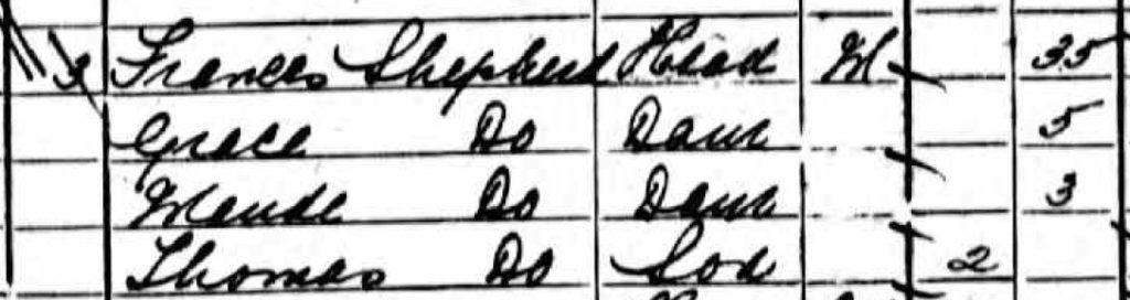 TravelGenee #atozchallenge S - 1901-England-Census-SHEPHERD-family