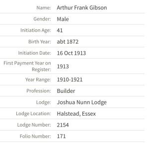 Arthur-Frank-GIBSON-Mason info