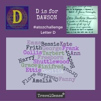 TravelGenee #atozchallenge D is for DAWSON