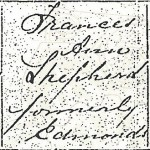 Frances Ann EDMONDS on Graces' Birth Cert
