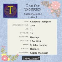 TravelGenee #atozchallenge T- THOMPSON