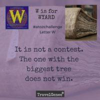 TravelGenee #atozchallenge W - WYARD