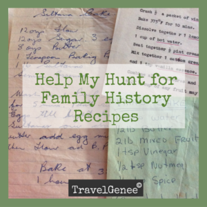 Hunt for family history recipes