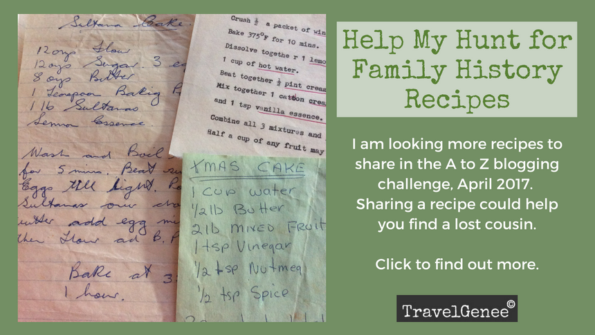 Family history recipes hunt