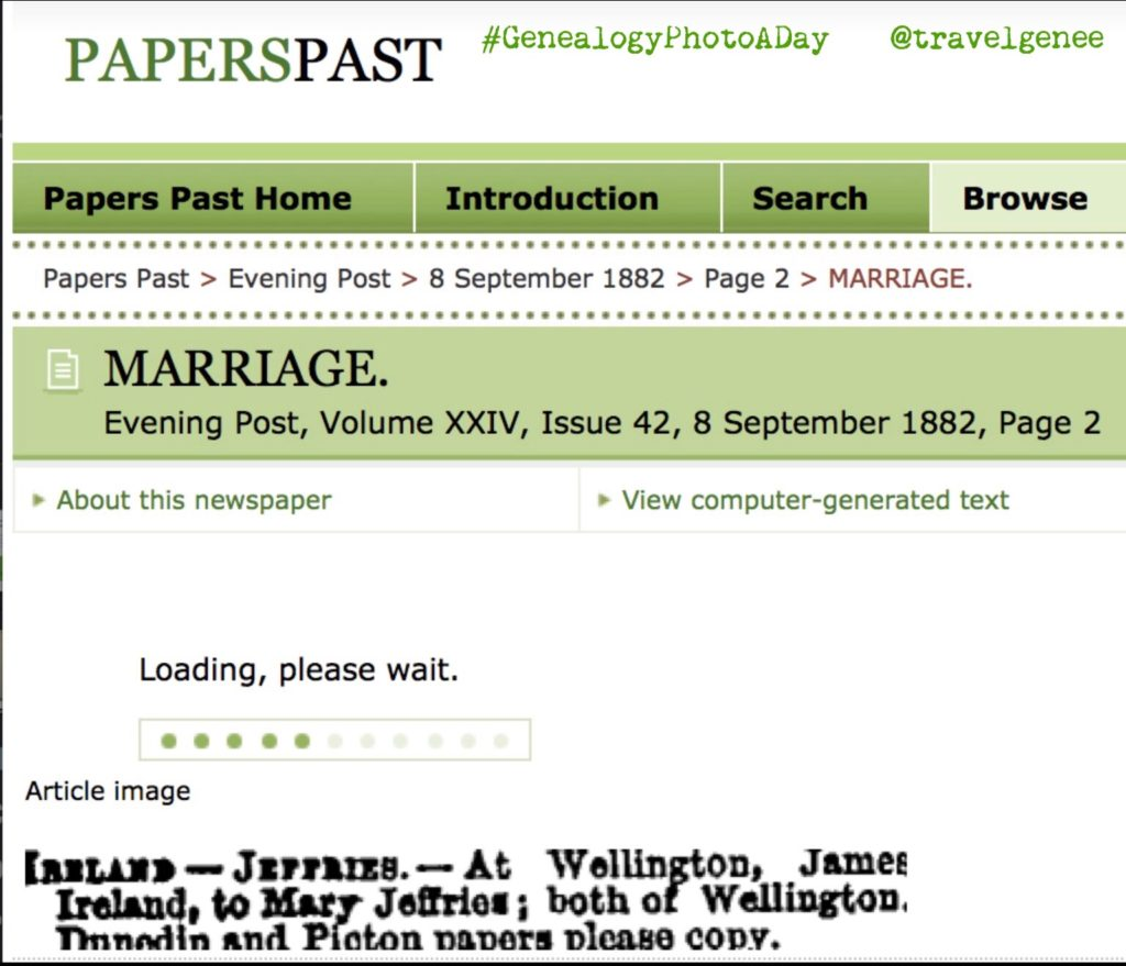 Family History Brickwall - Jeffries (Nee: MacDonald) & Ireland wedding