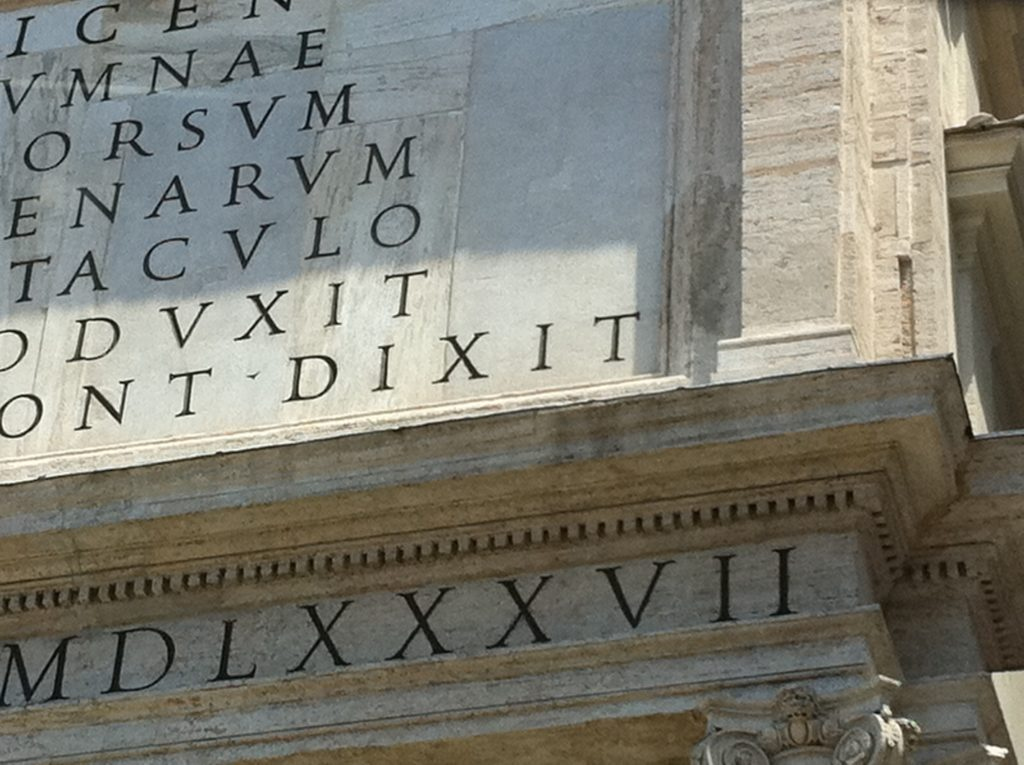 X for X - Buildings in Italy with Roman Numerals