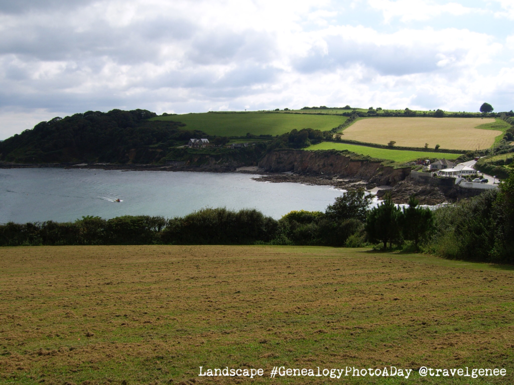 Current day Landscape near my Great Grandfathers Falmouth Home in Cornwall.