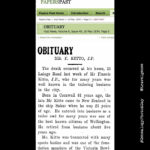 #AtoZChallenge N for Newspapers – Kitto Obituary