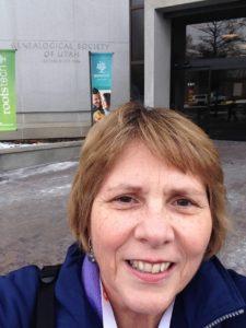 Selfie atthe Family History Library in Salt Lake City