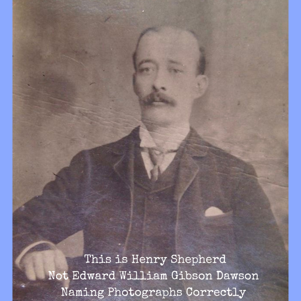 This is Henry Shepherd Not Edward William Gibson Dawson Naming Photographs Correctly