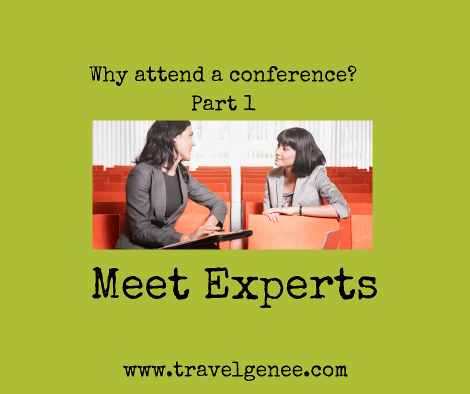 Why attend a conference: Meet Experts
