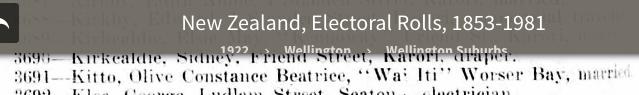 Electoral Roll 1922