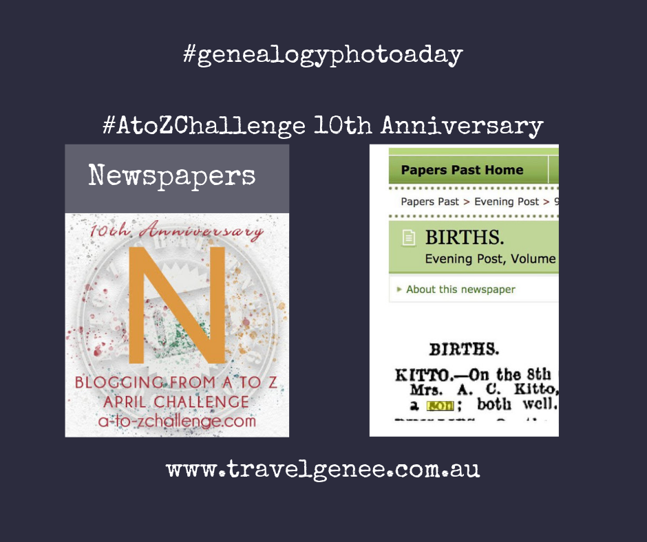 AtoZChallenge-Newspapers - Are these people in my family tree?