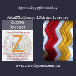 AtoZChallenge Zigzag Crochet
