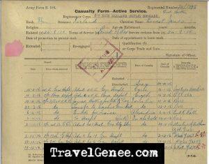 AtoZChallenge Ernest James Ireland - Military documents