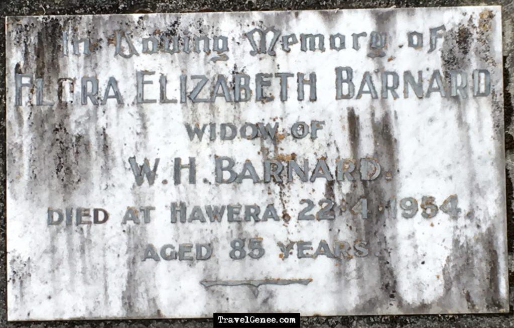 AtoZChallenge Jeffries - Grave Marker Flora Barnard, Nee Jeffries