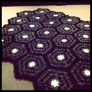 Hexagon shaped crochet