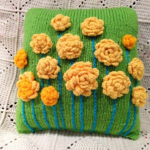 Flowers on a cushion