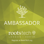 RootsTech Lo don Ambassadoe Badge