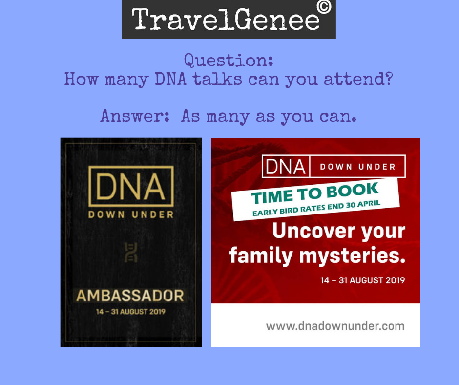 How many DNA talks can you attend?