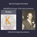 AtoZchallenge Kitto - all dressed up for a wedding