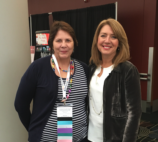 Fran Kitto with Liz Wiseman (right) at RootsTech 2017