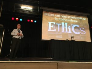 Blaine Bettinger presenting the Ethics talk.