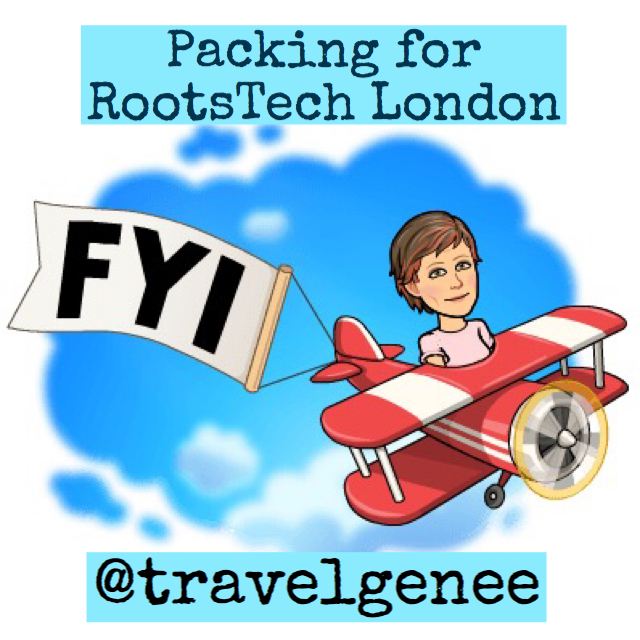 Packing for RootsTech London