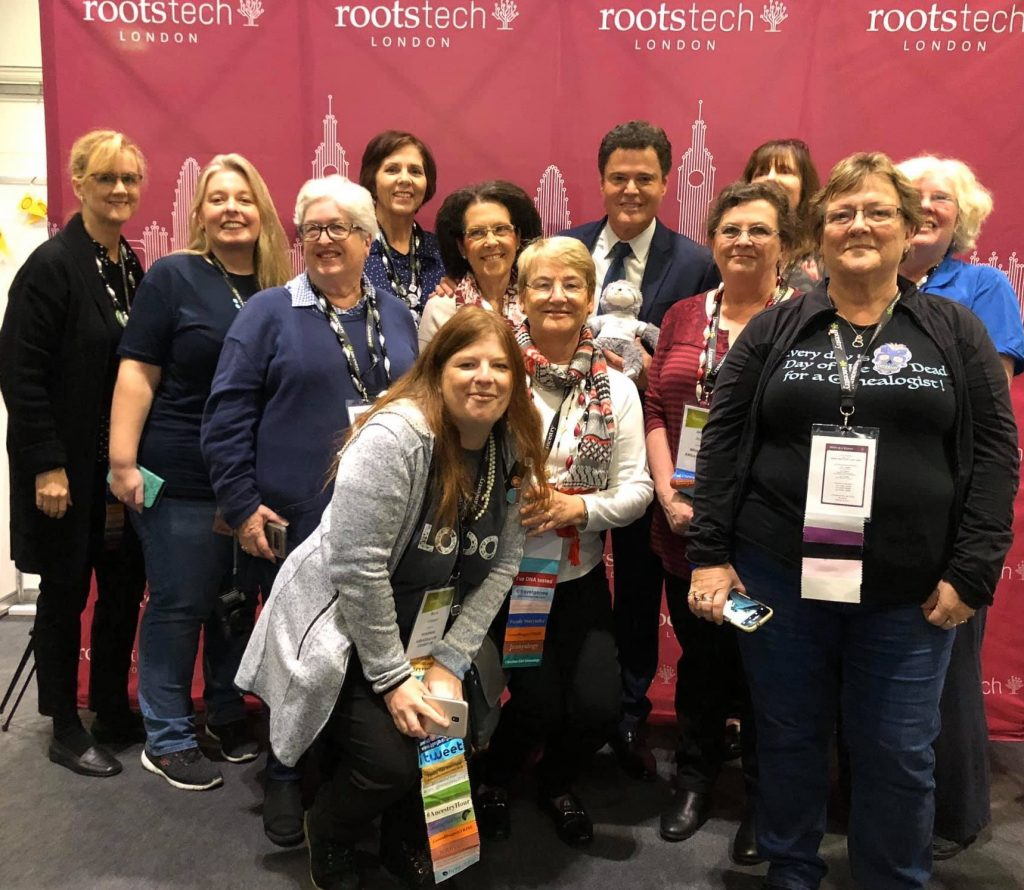 RootsTech ambassadors with Donny Osmond