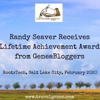 Randy Seaver Receives Lifetime Achievement Award from GeneaBloggers
