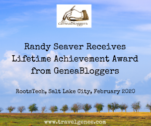 Randy Seaver Receives GeneaBloggersLifetime Achievement Award