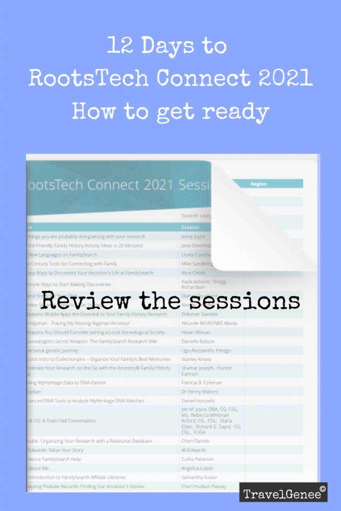Ready for RootsTech Connect: Review the sessions
